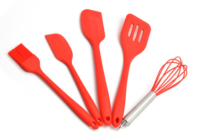 硅胶厨具5件套定制-定做硅胶厨具5件套厂家-东莞硅胶厨具五件套定制工厂