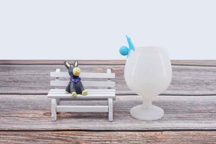 酒杯识别器,硅胶酒杯识别器,蜗牛酒杯标识