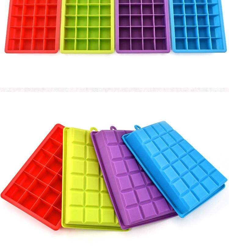 硅胶制冰格,硅胶24格冰格,家用冰格,冰块模具,硅胶制冰器