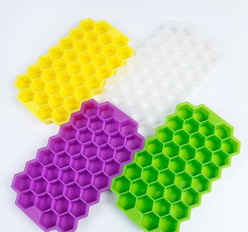 硅胶冰格,蜂窝造型冰格,带盖蜂窝冰格,创意冰格,硅胶制品器,食品级制冰模具