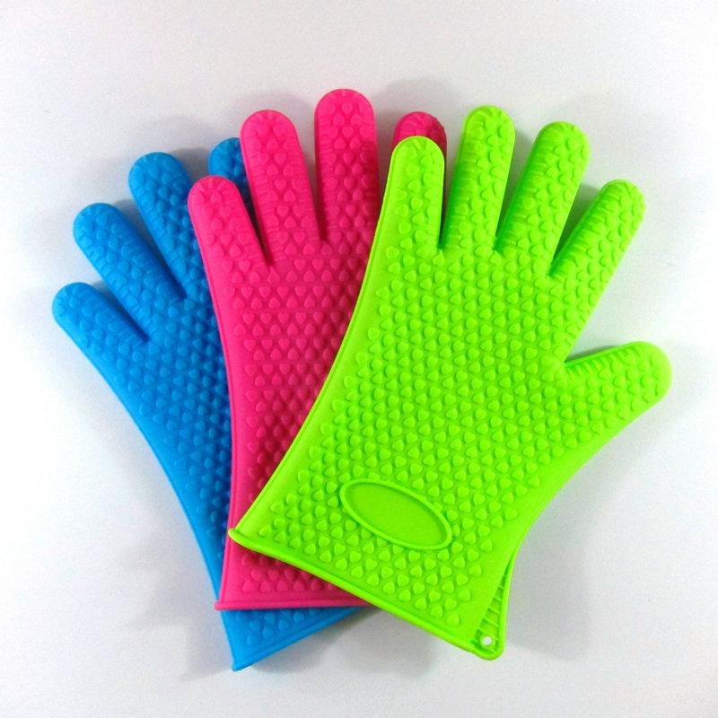 硅胶手套,硅胶防烫手套,耐高温烘焙手套,硅胶隔热手套,硅胶五指手套