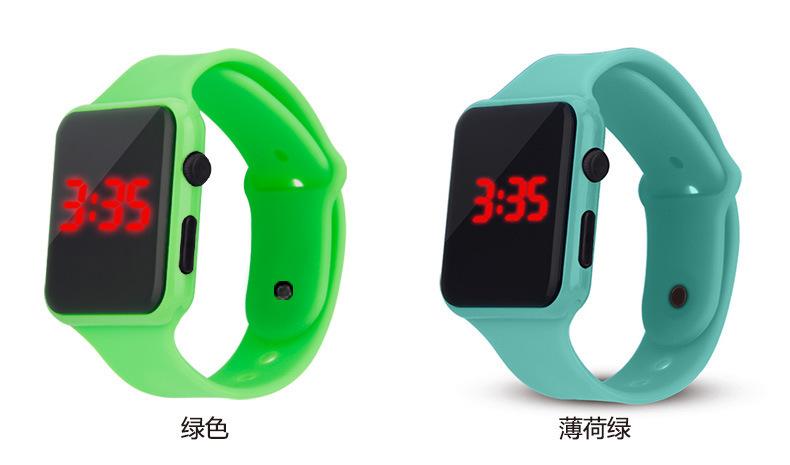 硅胶儿童手表,硅胶led手表,学生户外手表