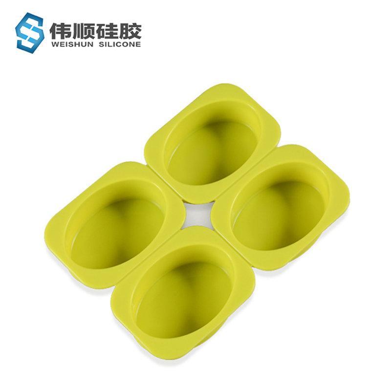 四连手工肥皂模具_硅胶巧克力模具