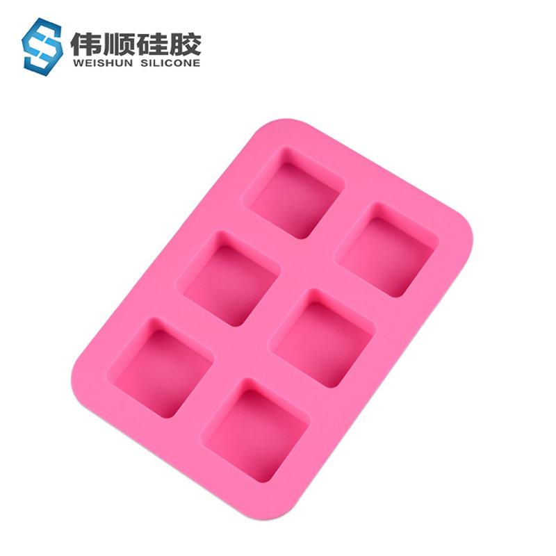6连方形手工皂模_巧克力模_蛋糕模