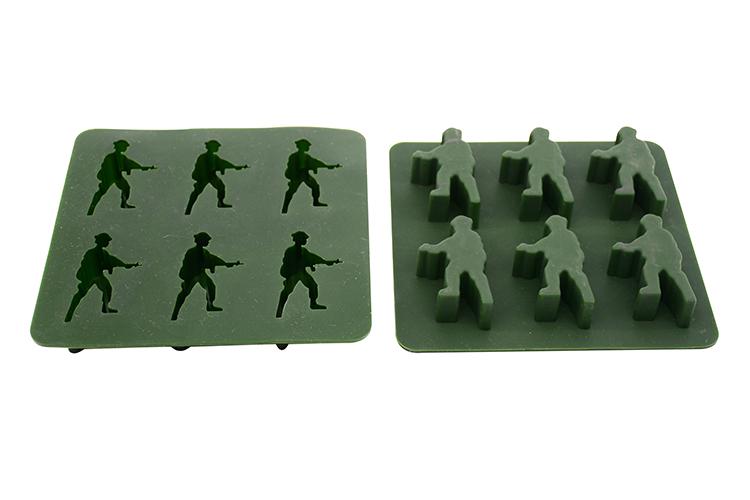 东莞硅胶模具,士兵巧克力模,6连硅胶模具