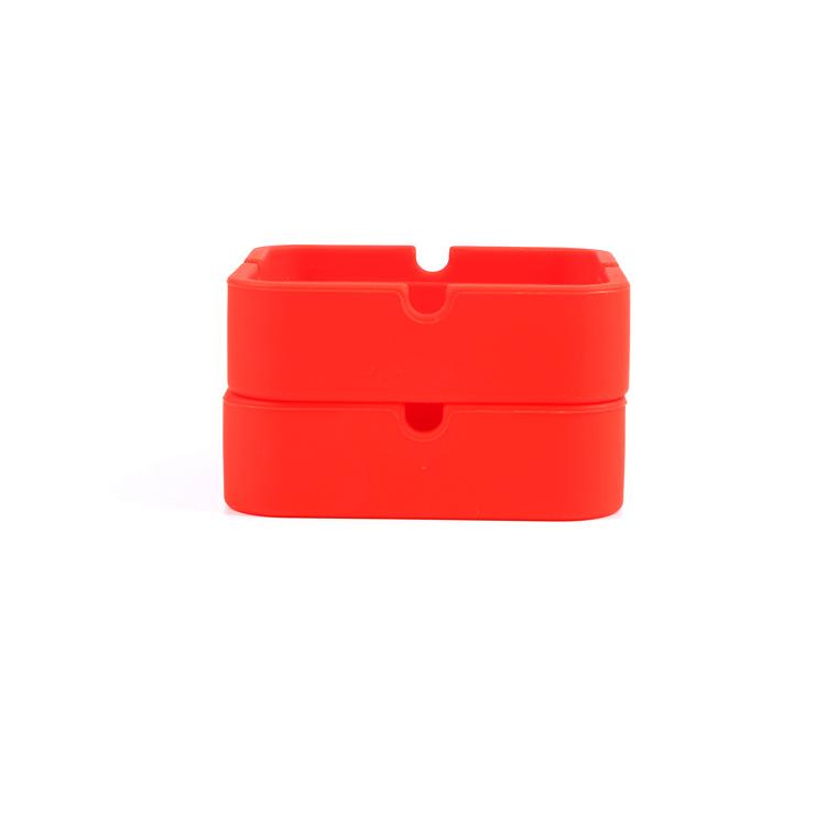 方形硅胶烟灰缸
