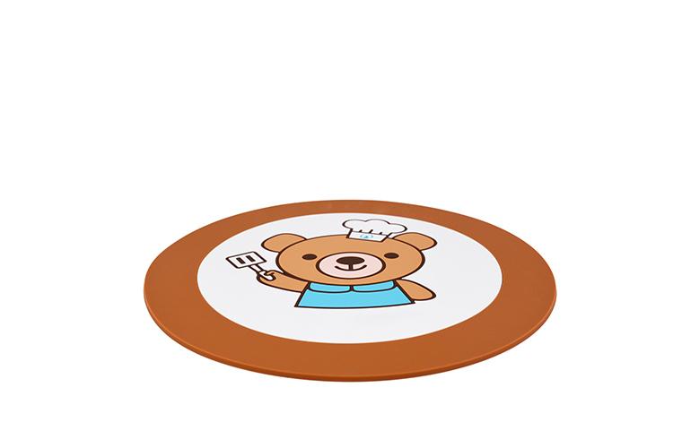硅胶杯垫,硅胶隔热垫,硅胶防滑垫,小熊杯垫