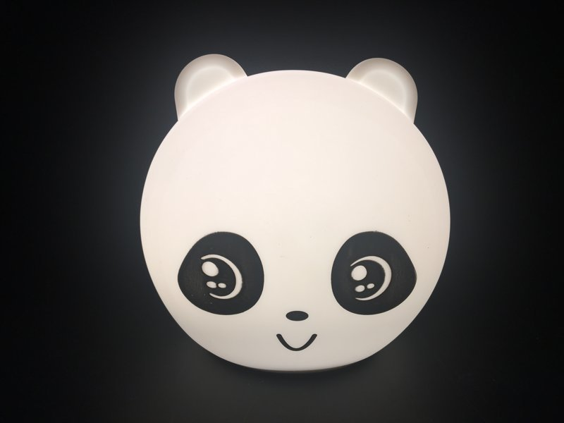 熊猫硅胶小夜灯,硅胶拍拍灯,硅胶氛围灯