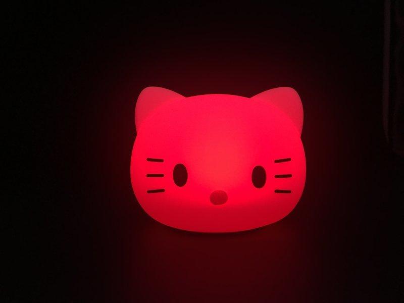硅胶kitty拍拍灯,hello kitty 小夜灯,kt 硅胶氛围灯