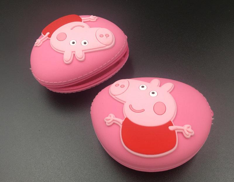 小猪佩奇零钱包,硅胶乔治钥匙包,小猪乔治耳机浙江11选五5开奖号码包
