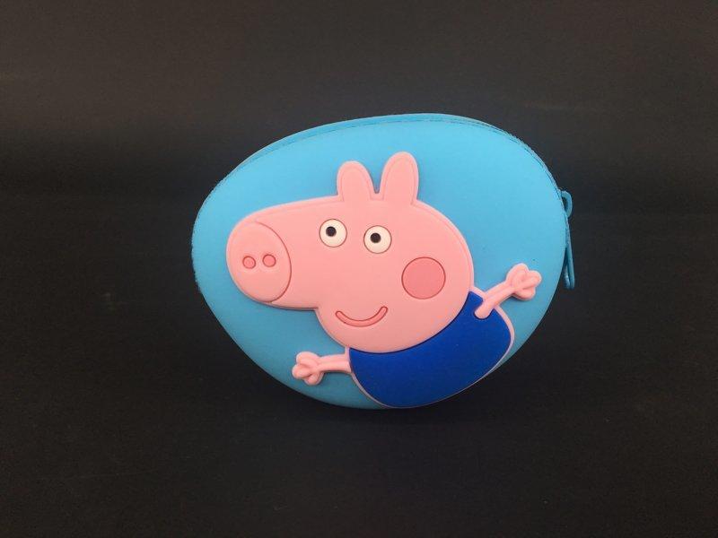 小猪佩奇零钱包,硅胶乔治钥匙包,小猪乔治耳机包