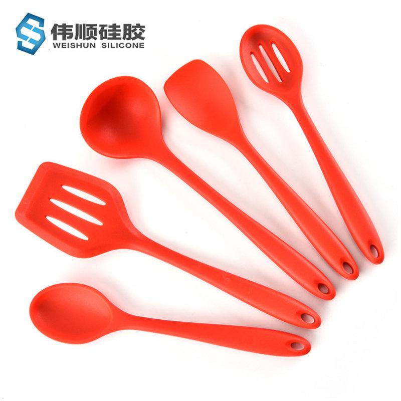 硅胶厨具5件套 红色