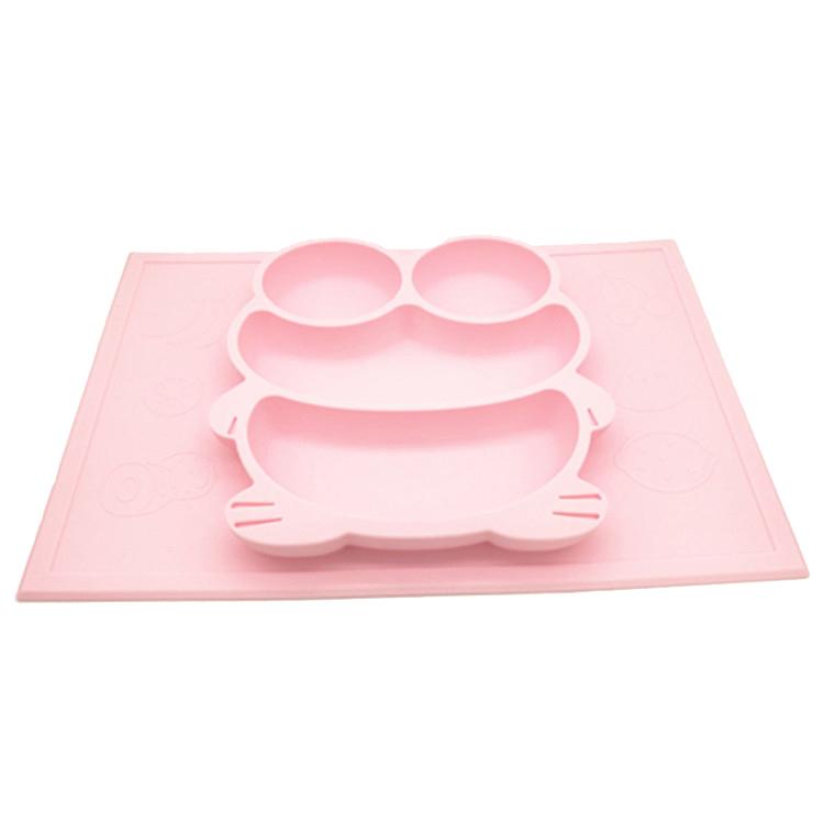 青蛙硅胶餐盘,儿童青蛙硅胶餐盘,卡通青蛙硅胶餐盘