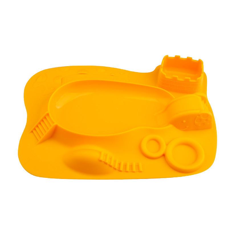 硅胶立体餐盘,硅胶立体儿童餐盘,立体游乐场儿童餐盘,硅胶游乐园一体餐垫