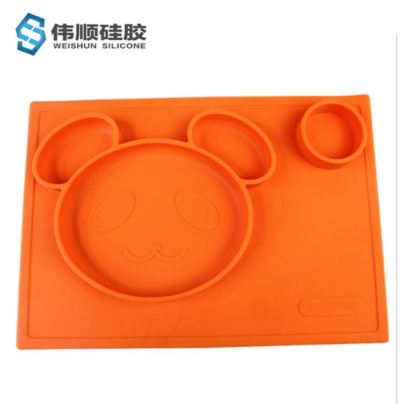 熊猫硅胶餐盘