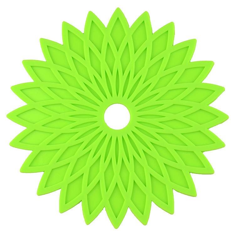 圆形硅胶几何花餐垫,圆形硅胶隔热垫,几何花餐垫