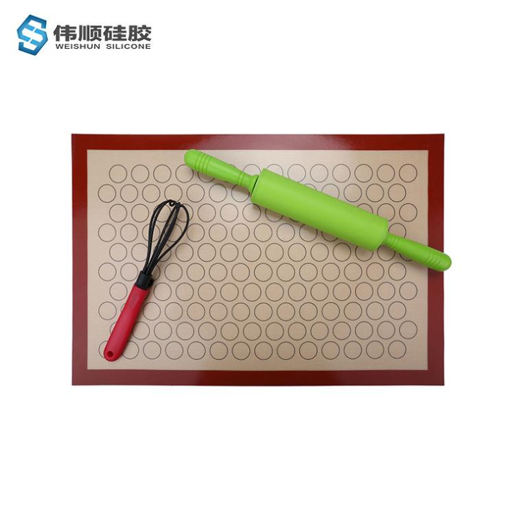 硅胶马卡龙烘焙垫,玻璃纤维硅胶烤箱垫,40*60多功能垫子