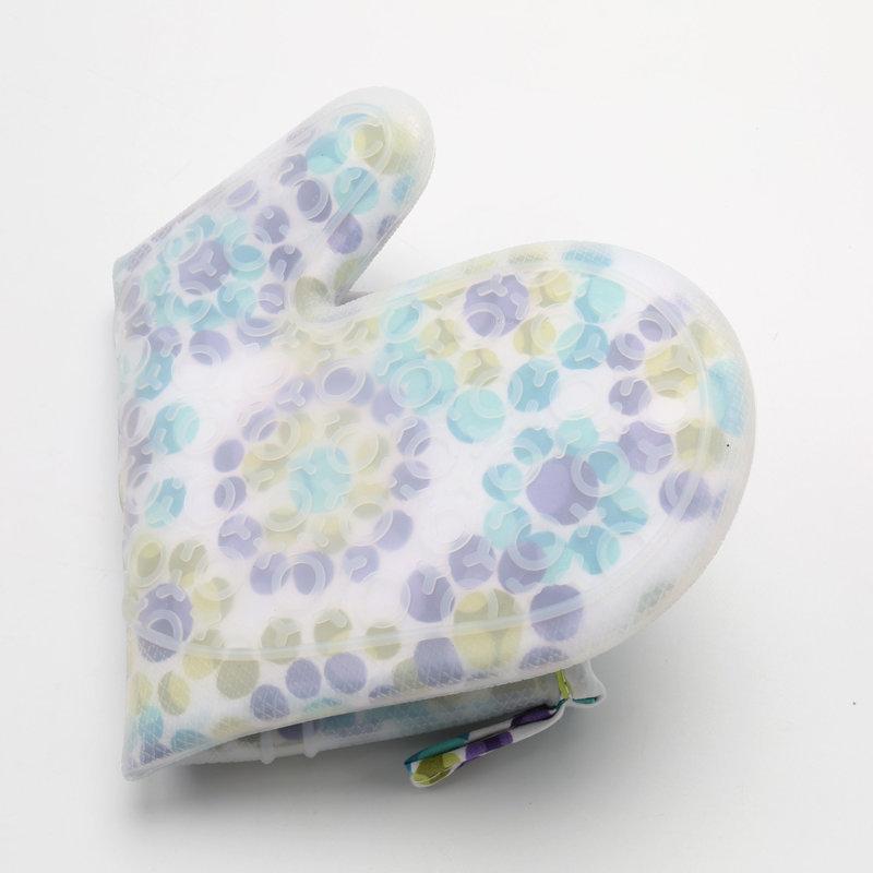 加棉硅胶手套,碎花硅胶防烫手套,二指硅胶烘焙手套