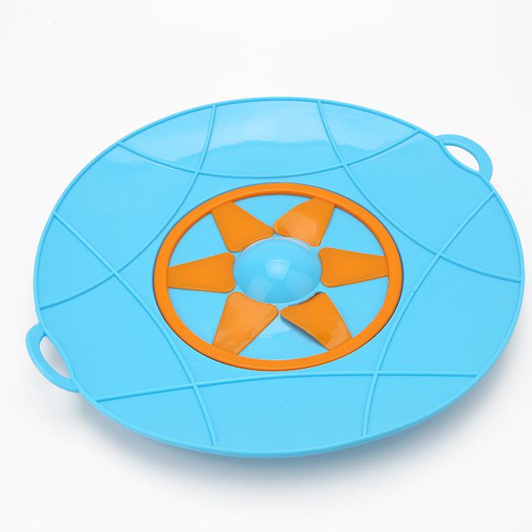 六角星硅胶防溢盖,硅胶防溅锅盖,食品级防溢出大号锅盖
