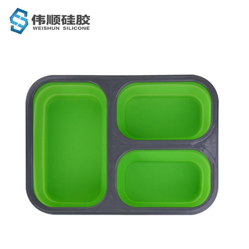 三格折叠饭盒
