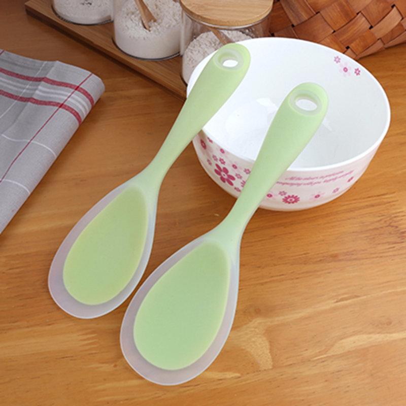 硅胶饭勺,半透明硅胶一体勺子,食品级硅胶饭勺