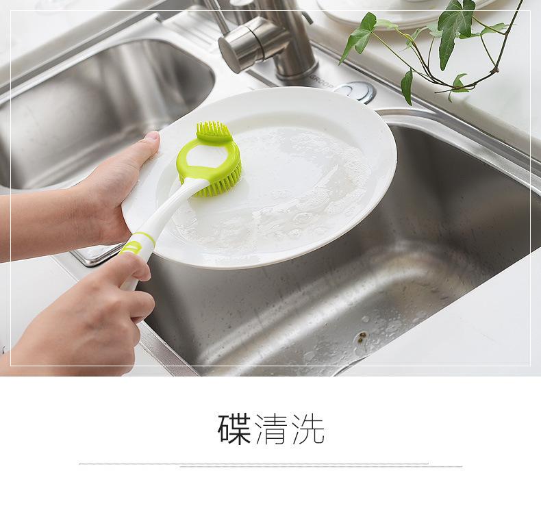 硅胶长柄清洁刷,硅胶不沾油长柄刷子,硅胶厨房洗碗刷