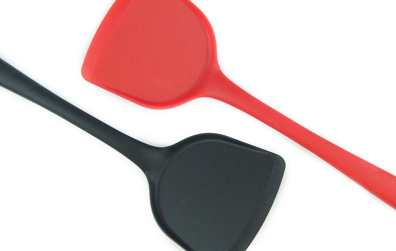 硅胶一体式长柄锅铲,硅胶全包铲子,硅胶炒菜锅铲