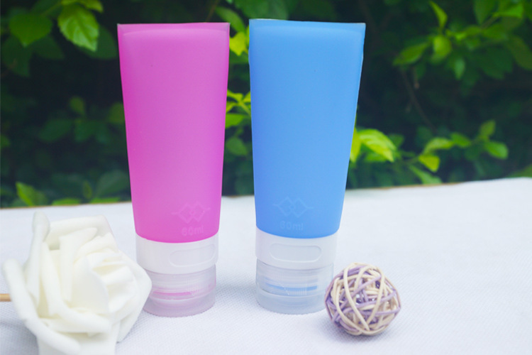 硅胶勺子瓶套装,硅胶旅行平头分装瓶,户外硅胶分装瓶