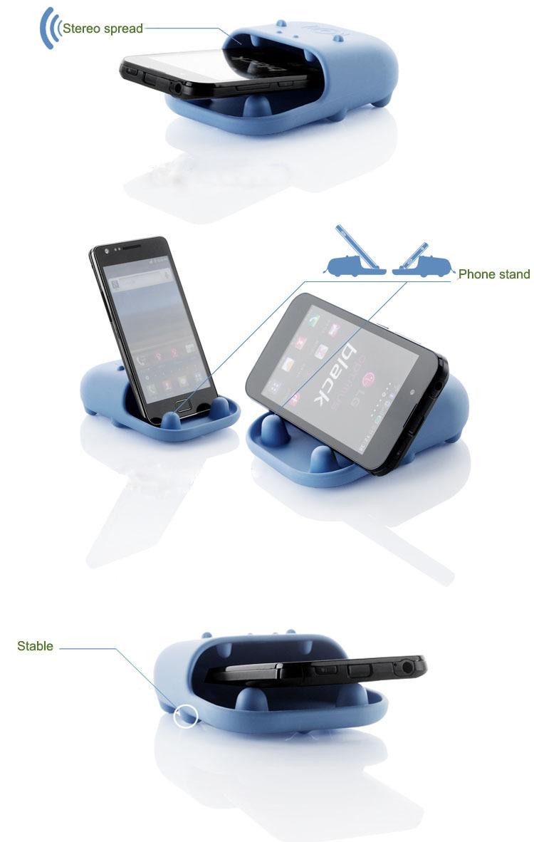 河马硅胶扩音器,硅胶手机扩音器,多功能硅胶手机支架喇叭,硅胶扩音器,手机扩音器