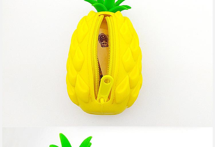 菠萝零钱包,硅胶菠萝零钱包