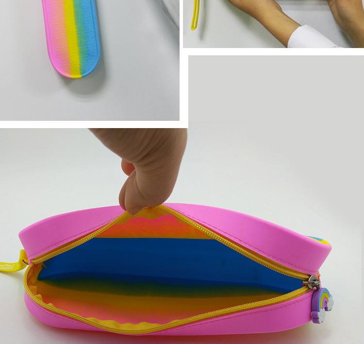 硅胶lss文具包,硅胶拉链铅笔包,学生文具包