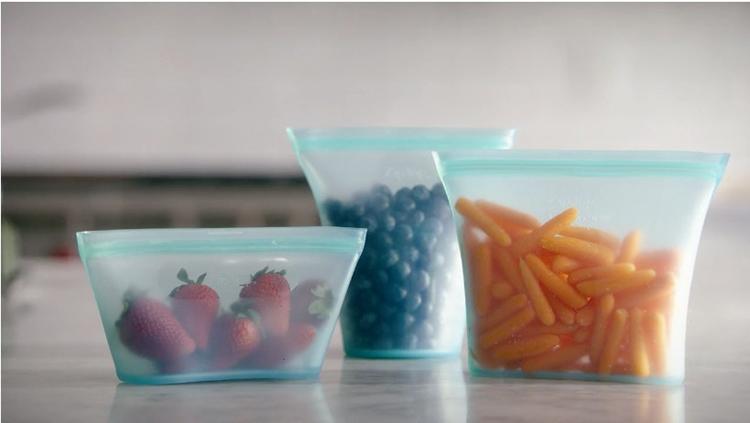 现货ZIPTOP食品硅胶袋 爆款食品级密封袋