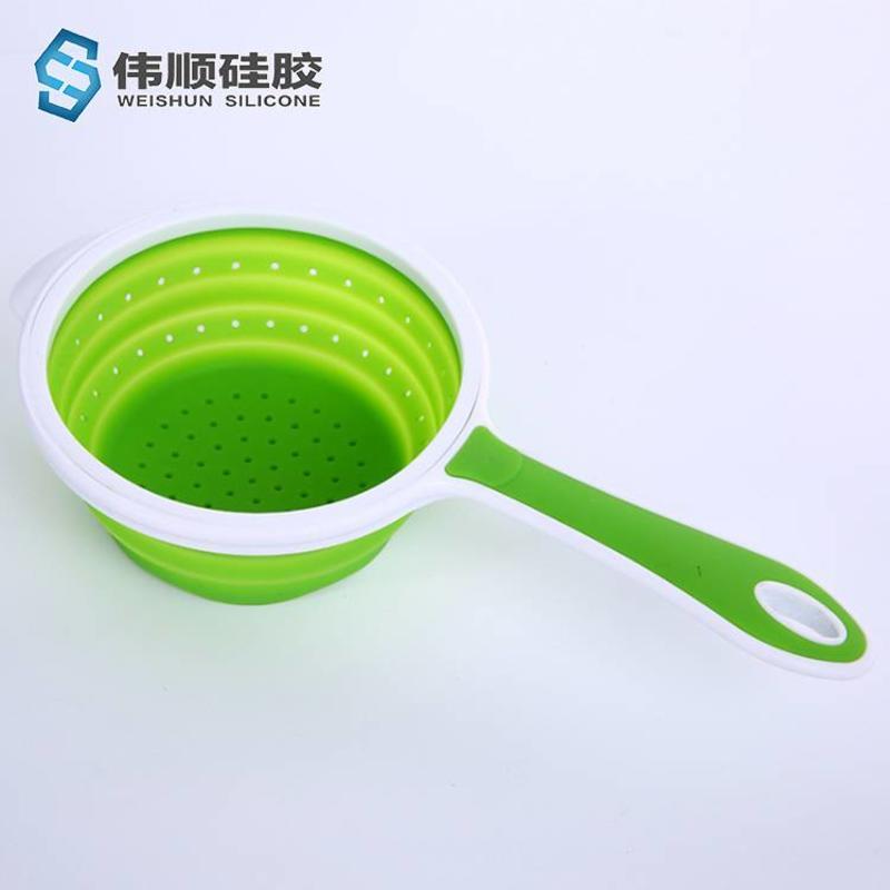硅胶厨具-硅胶折叠漏勺
