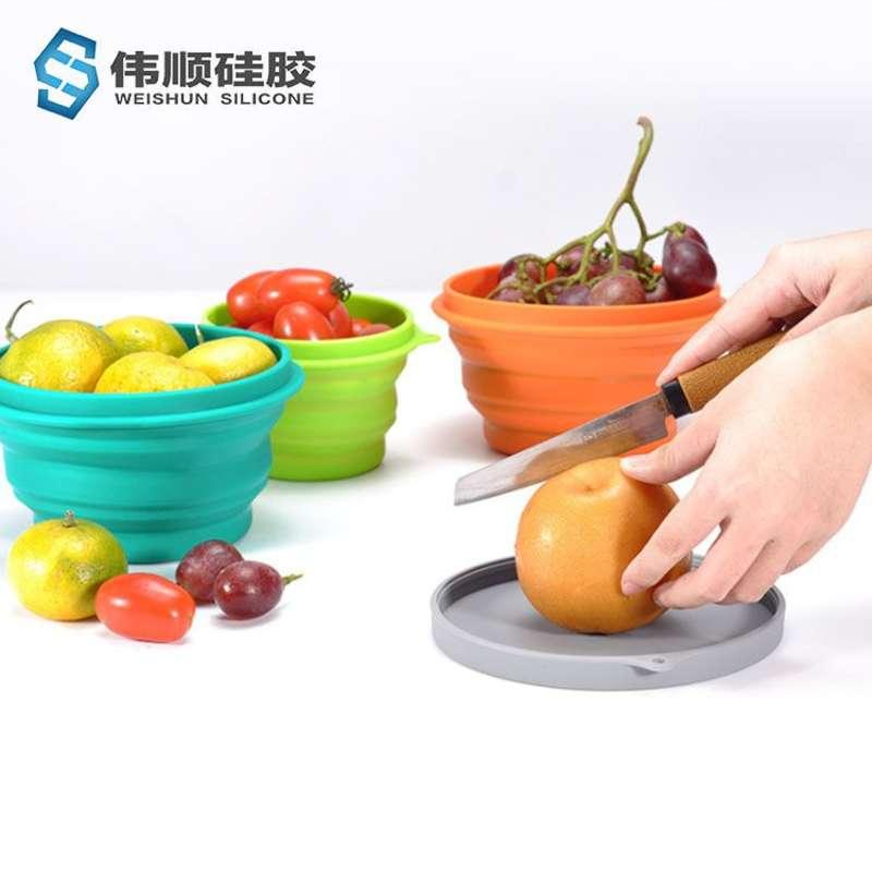 硅胶折叠餐具