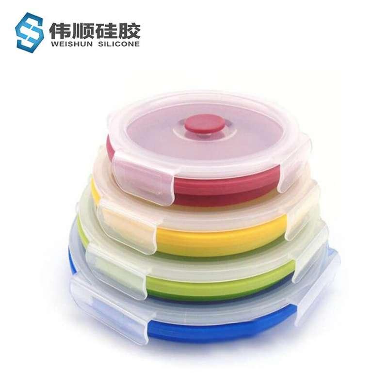 硅胶伸浙江11选5赔率缩折叠餐具