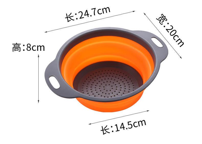圆形折叠洗菜盆沥水篮_08