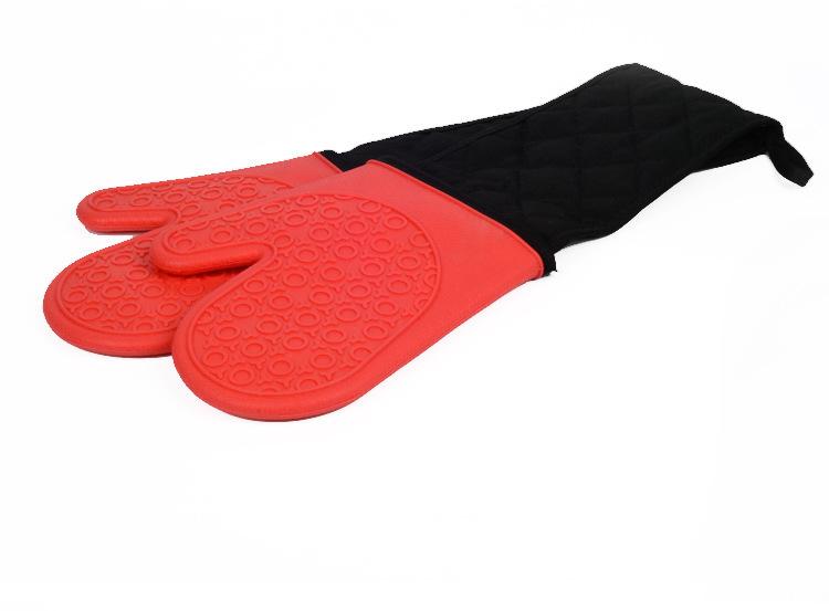 硅胶加长手套红色