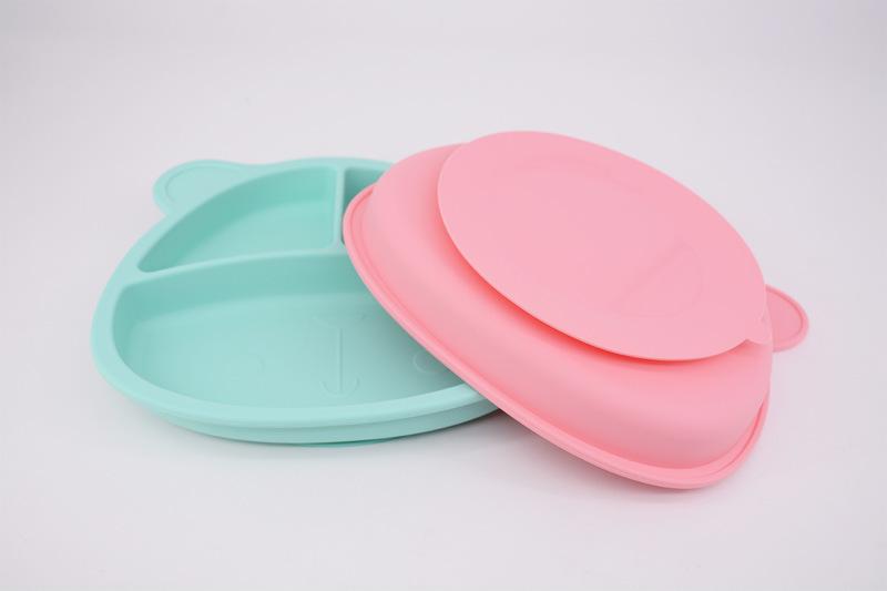小熊硅胶餐盘颜色