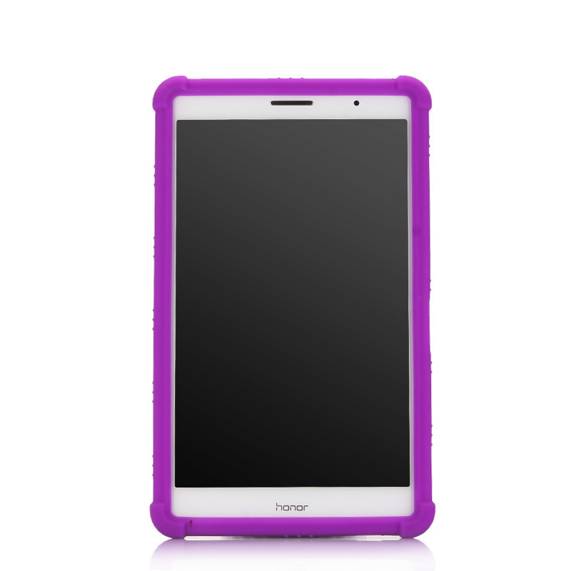 荣耀平板2硅胶套紫色正面