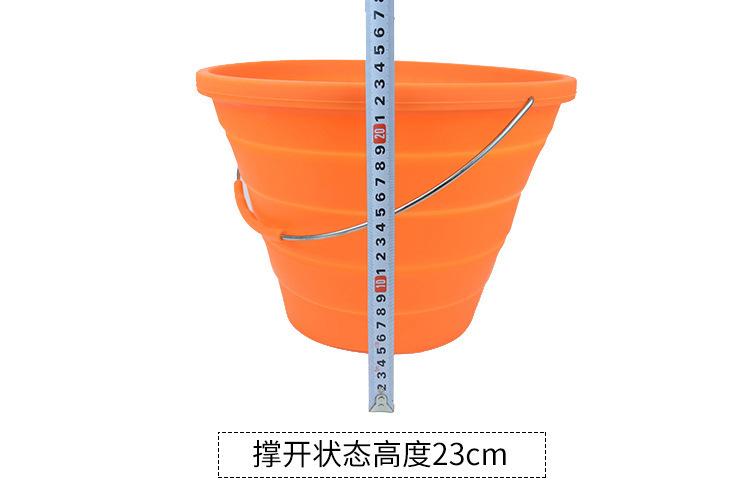 硅胶钓鱼桶高度